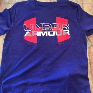 Under Armour Tee, Purple Dry Fit